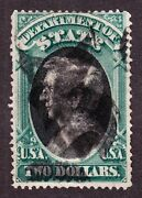 Us O68 2 State Department Used F-vf Scv 1625