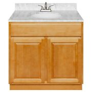 36 Vanity Cabinet Richmond With Granite Top Cara White And Faucet Lb5b