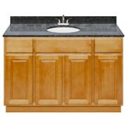 48 Vanity Cabinet Richmond With Granite Top Blue Butterfly And Faucet Lb5b