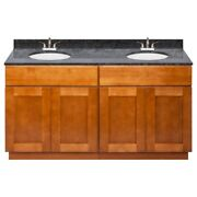 60 Vanity Cabinet Newport With Granite Top Blue Butterfly And Faucet Lb5b