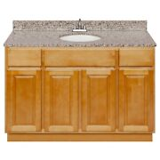 48 Vanity Cabinet Richmond With Granite Top Burlywood And Faucet Lb5b