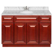 48 Vanity Cabinet Cherryville With Granite Top Cara White And Faucet Lb5b