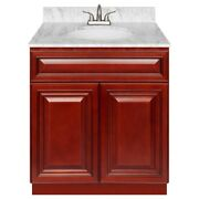 30 Vanity Cabinet Cherryville With Granite Top Cara White And Faucet Lb5b