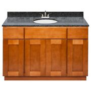 48 Vanity Cabinet Newport With Granite Top Blue Butterfly And Faucet Lb5b