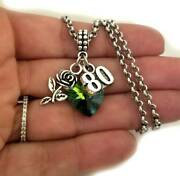 Happy 80th Birthday Jewelry Gift Charm Bracelet Necklace For Women Turning 80