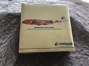 Malaysia Airlines Boeing 747-400 Hibiscus Diecast Model 1400. Nib Still Wrapped