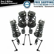 8 Piece Suspension Kit Complete Strut And Spring Assemblies Sway Bar End Links New