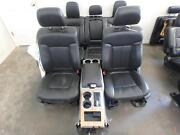 09-14 Ford F150 Lariat Black Leather Front/rear Seats W/console Power/heated