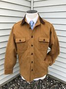 Nwt Bills Khakis The Scully Quilted Sedona Twill Flannel Jacket Breen Size Large