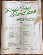 John Deere Handy Farm Account Book1958-59-60published By John Deeremolineill