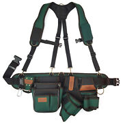 Electrician Tool Work Belt Pouch Bag Suspenders Drill Holster Hammer Holder