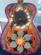 Andnbspstained Glass Guitar Mixed Media Mosaic Wall Artandnbsp Hand Crafted In Maine