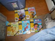 Leapfrog My First Leap Pad Lot Of 5 Books And Cartridges Learning Sys Preschool