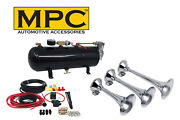 Train Horn Kit - Triple Horns For Car Or Truck With 110 Psi Air System