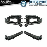 Front Upper Lower Control Arm Ball Joint Suspension Kit Set 4pc For Mustang New