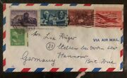 1941 Jamaica Ny Usa Airmail Wartime Cover To Hannover Germany