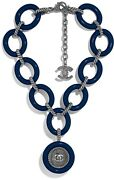 Arts And Metiers 2018 Navy Resin Silver Logo Necklace Sold Out