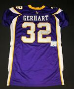 Toby Gerhart Signed Minnesota Vikings On Field Football 'game Issued Jersey' Bas