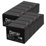 Mighty Max 12v 15ah Battery Replacement For Wagan 2485 Power Dome Nx - 10 Pack