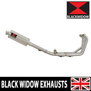 Cbr 600 91-98 Fm-fw Exhaust System + 300mm Oval Stainless Silencer 300ss