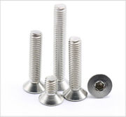 M3-m6 304 Stainless Steel Stainless Steel Hex Flat Head Socket Caps Screws Bolts