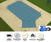 Gli Hyperlite Grecian Swimming Pool Safety Winter Cover W/ Right Step And Pump