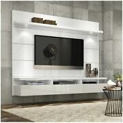 Floating Entertainment Center Wall Unit Tv Stand Flat Screen 60 Inch Mount White