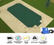 Gli Hyperlite Grecian Swimming Pool Safety Winter Cover W/ Step And Cover Pump
