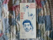 1968-69 Aba Media Guide Yearbook Connie Hawkins 1969 Book Program Basketball Ad