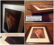 Only One On Ebay} President Ronald Reagan Signed Print-of-oil Artist Don Adair
