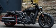 Indian Motorcycle Exhaust Mufflers - Black - Pulled From Scout Bobber