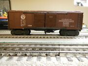 Lionel X2458 Boxcar With Flying Shoes Brown Fiber Boards From 1946