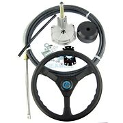 17 Ft Boat Rotary Steering System With Marine Outboard Steering Cable And Wheel