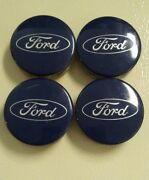 Ford Escape Oem Blue Center Cap Set Of 4 One Has Small Scratch