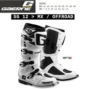 Boots Enduro Cross Motorcycle Gaerne Sg 12 Mx Offroad White 2174004