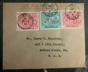 1934 St Kitts On His Majesty Services Cover To Mckees Rocks Pa Usa