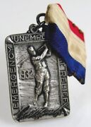 1932 Bobby Jones Emergency Unemployment Relief Sterling Silver Embossed Medal