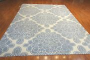 Hand Tufted Contemporary Rug 8and039 X 11and039 Wool And Bamboo Silk Pile Made In India