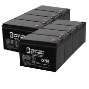 Mighty Max 12v 7ah Battery Replacement For Ademco 25310 Alarm System - 8 Pack