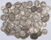 100 Full Date Buffalo Nickels Mixed Date And Mint Mark