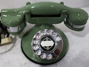 Automatic Electric Round Base Model 40 Circa 1929 Telephone Mint Green