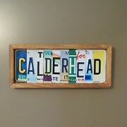 Custom License Plate Sign Names Personalized Unique Gift Anniversary Gift