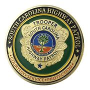 U.s. United States   South Carolina Highway Patrol   Gold Plated Challenge Coin
