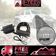 S-tech 6 Switch System With Relay Center - Amber Kit Fits 18-21 Jeep Wrangler Jl