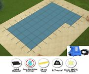 Gli Rectangle Hyperlite Solid W/ Pump Pool Safety Cover W/ Right Flush Step