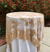 Lace Tablecloth Table Overlay Wedding Decor Vintage Table Cloth Sweetheart Table