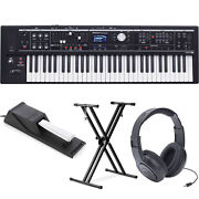 Roland Vr-09 V-combo 61-note Live Performance Keyboard W/pedalstand Headphones