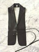 Hermes Black Deerskin Gilet Vest - Sz 34 Rare Collectible From Jpgand039s Final Coll