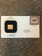 1918 Air Mail Issue 24cent Inverted Jenny 22kt Gold Replica Postage Stamp