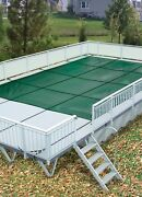 Hpi Above Ground Mesh On-ground Safety Cover For Use With Kayak Poolsandreg